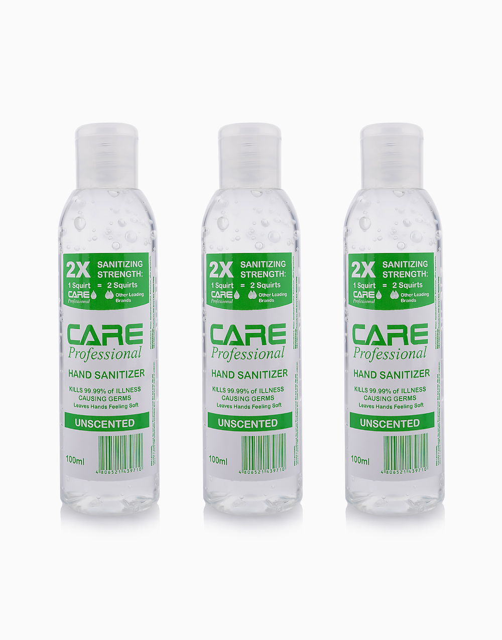 Care Professional Hand Sanitizer 60% Isopropyl (Pack of 3) by Soolit