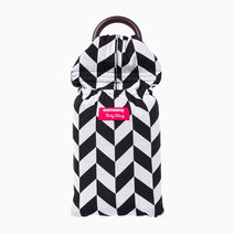 Mamaway black   white herringbone baby ring sling