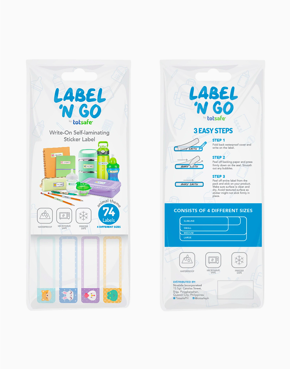 Label 'N Go Self-Laminating Sticker Labels by Totsafe |