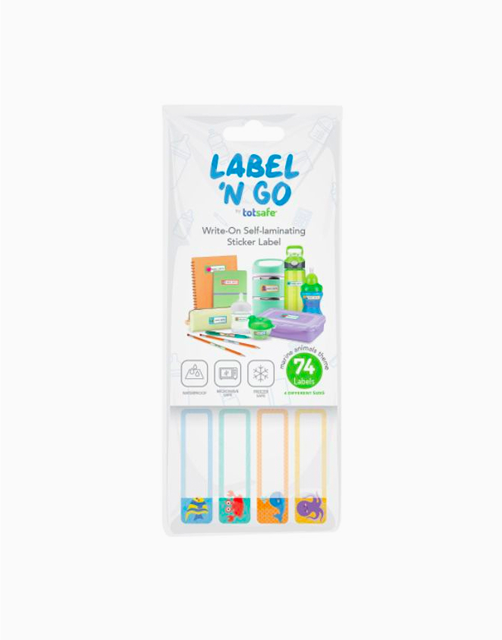 Label 'N Go Self-Laminating Sticker Labels by Totsafe | Marine Theme