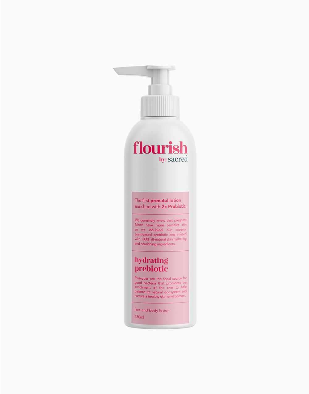 Flourish Prebiotic Lotion (230ml) by Sacred