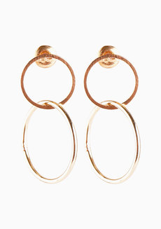 Jess (Double Circle Drop Earrings) by Aine