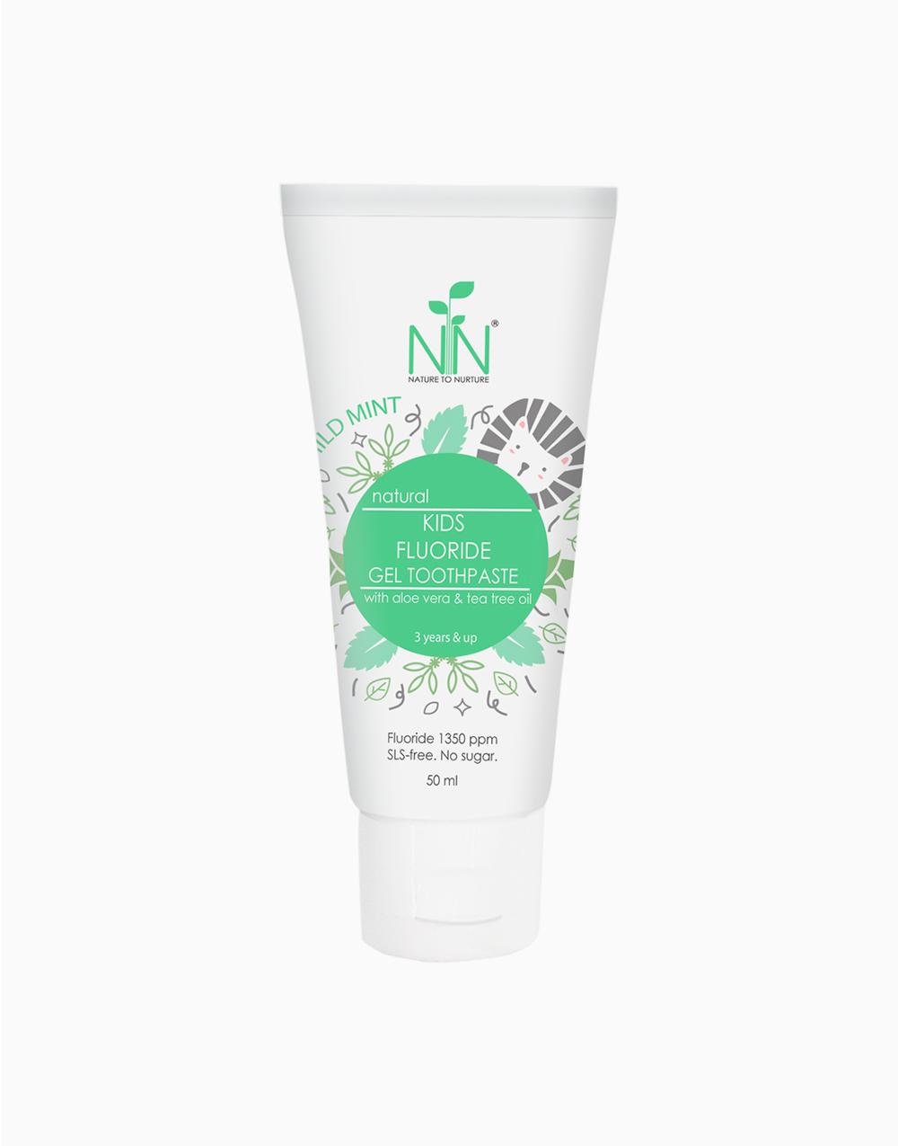 Kids Fluoride Toothpaste 50ml (Mild Mint) by Nature to Nurture