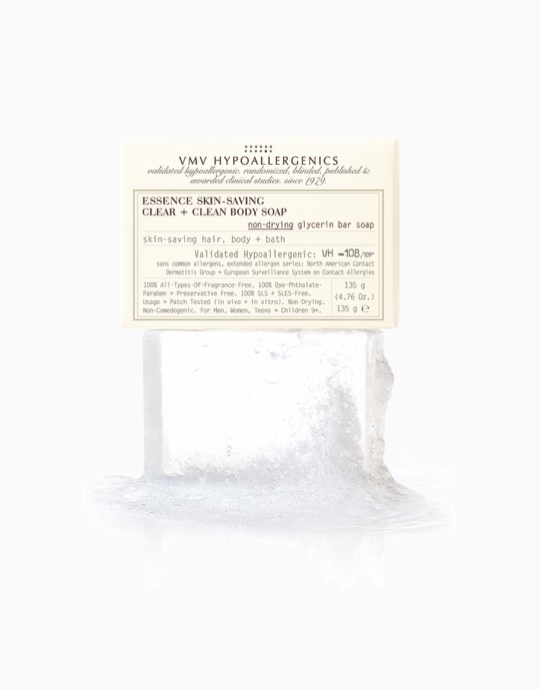 Essence Skin-Saving Clear + Clean Body Soap by VMV Hypoallergenics