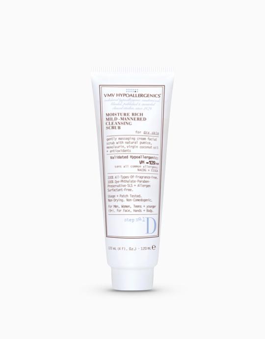Moisture Rich Mild-Mannered Cleansing Scrub for Dry Skin by VMV Hypoallergenics
