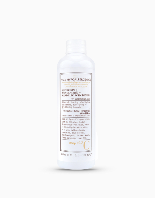 SuperSkin 2 Monolaurin + Mandelic Acid Toner for Combination Skin by VMV Hypoallergenics