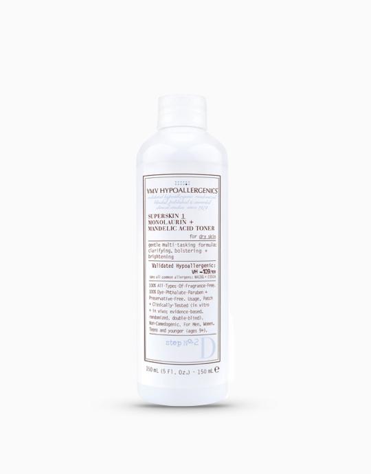 SuperSkin 1 Monolaurin + Mandelic Acid Toner for Dry Skin by VMV Hypoallergenics