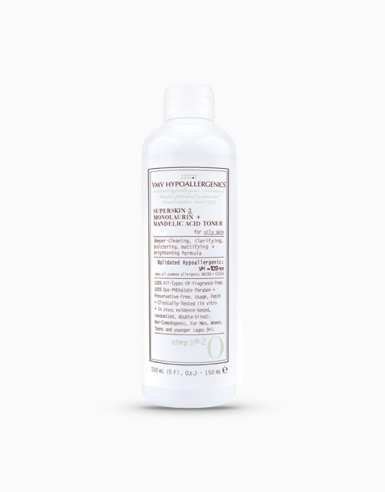 SuperSkin 3 Monolaurin + Mandelic Acid Toner for Oily Skin by VMV Hypoallergenics