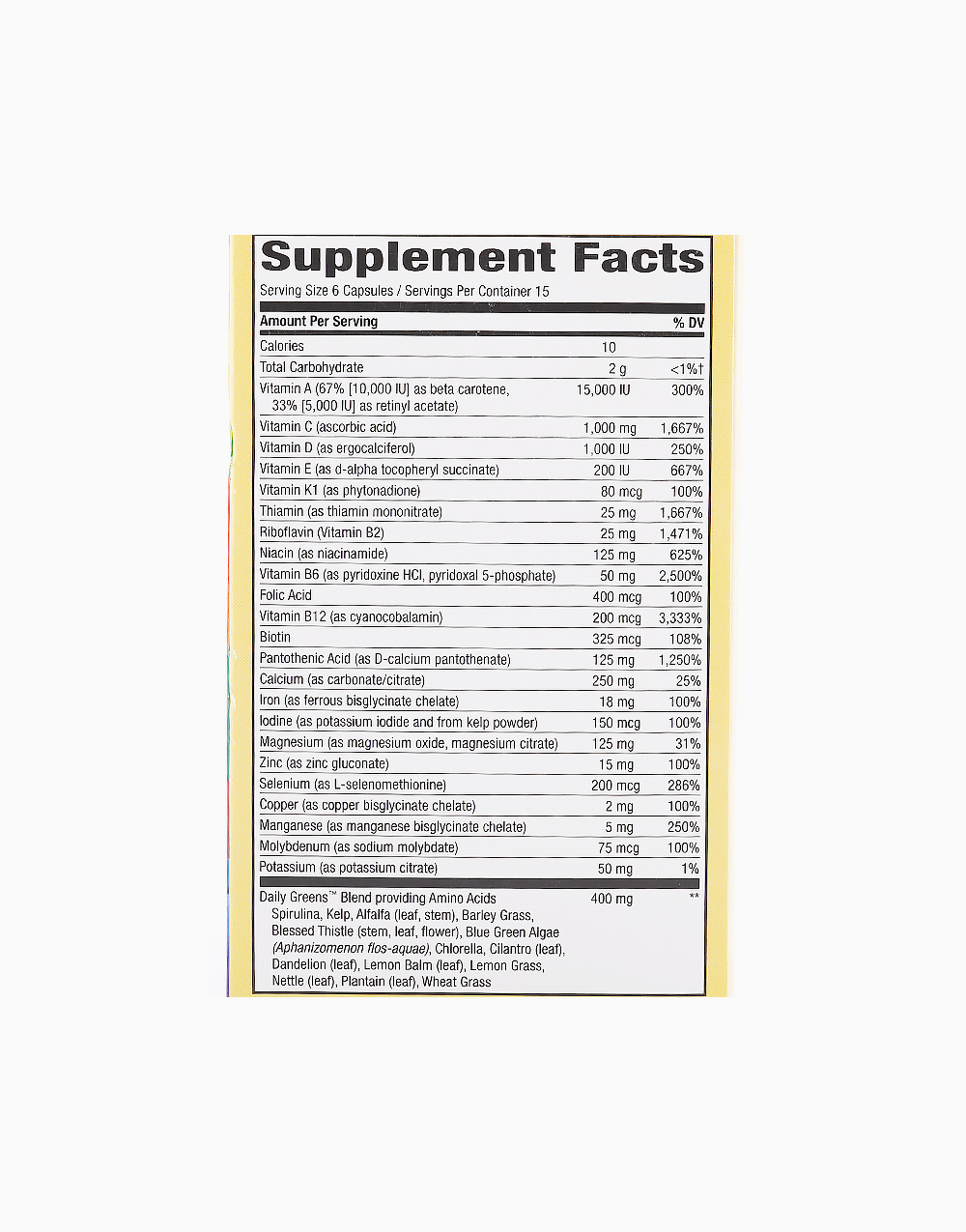 Alive! Daily Multivitamin (90 Vegetable Capsules) by Nature's Way