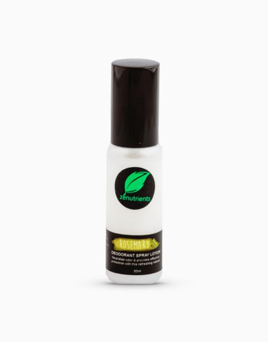Revitalizing Rosemary, Peppermint, & Tea Tree Deodorant Spray Lotion (50ml) by Zenutrients