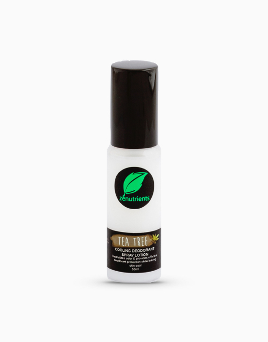 Cooling Tea Tree Deodorant Spray Lotion (50ml) by Zenutrients