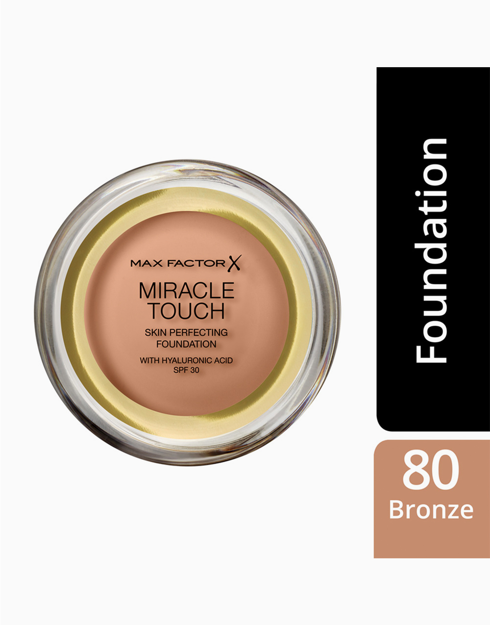 Miracle Touch Foundation Reformulated by Max Factor   Bronze