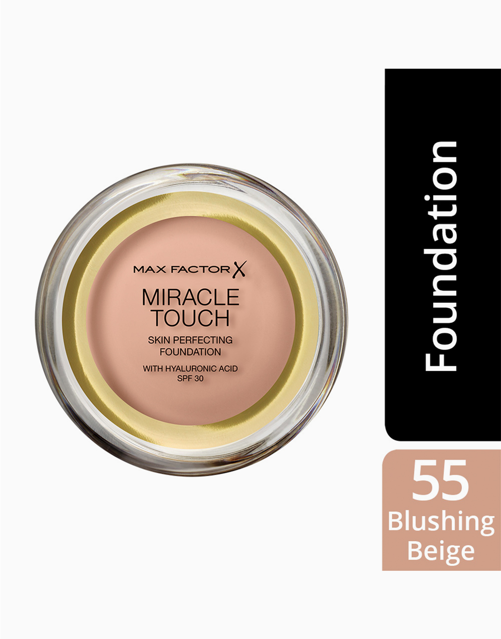 Miracle Touch Foundation Reformulated by Max Factor   Blushing Beige
