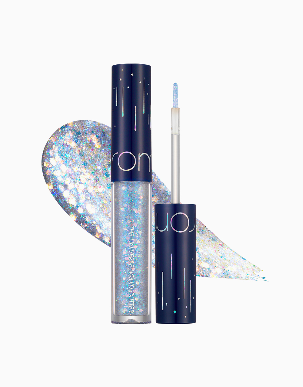 The Universe Liquid Glitter Shadow by Rom&nd | 04 Frozen Star