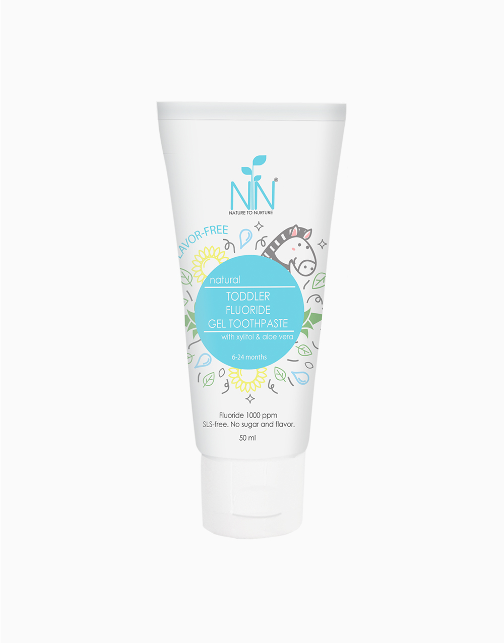 Toddler Fluoride Gel Toothpaste Blue (6 Months to 2 Years Old) by Nature to Nurture