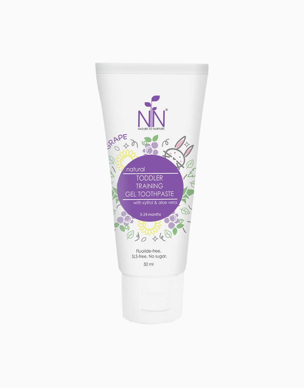 Toddler Training Gel Toothpaste Violet (3 Months to 2 Years Old) by Nature to Nurture