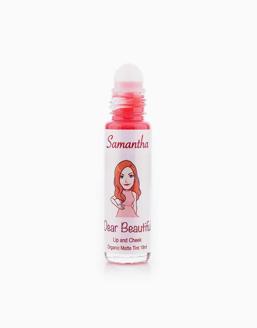 All Natural Lip and Cheek Tint by Dear Beautiful | Samantha (Strawberry Slush in Matte)