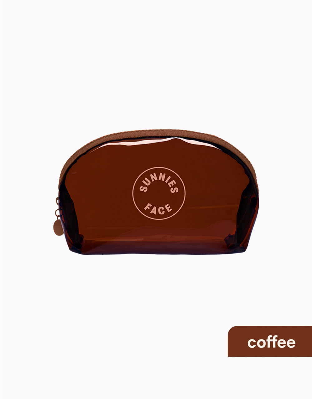 Sunnies Face Jelly Pouch [Makeup Pouch] (Coffee) by Sunnies Face