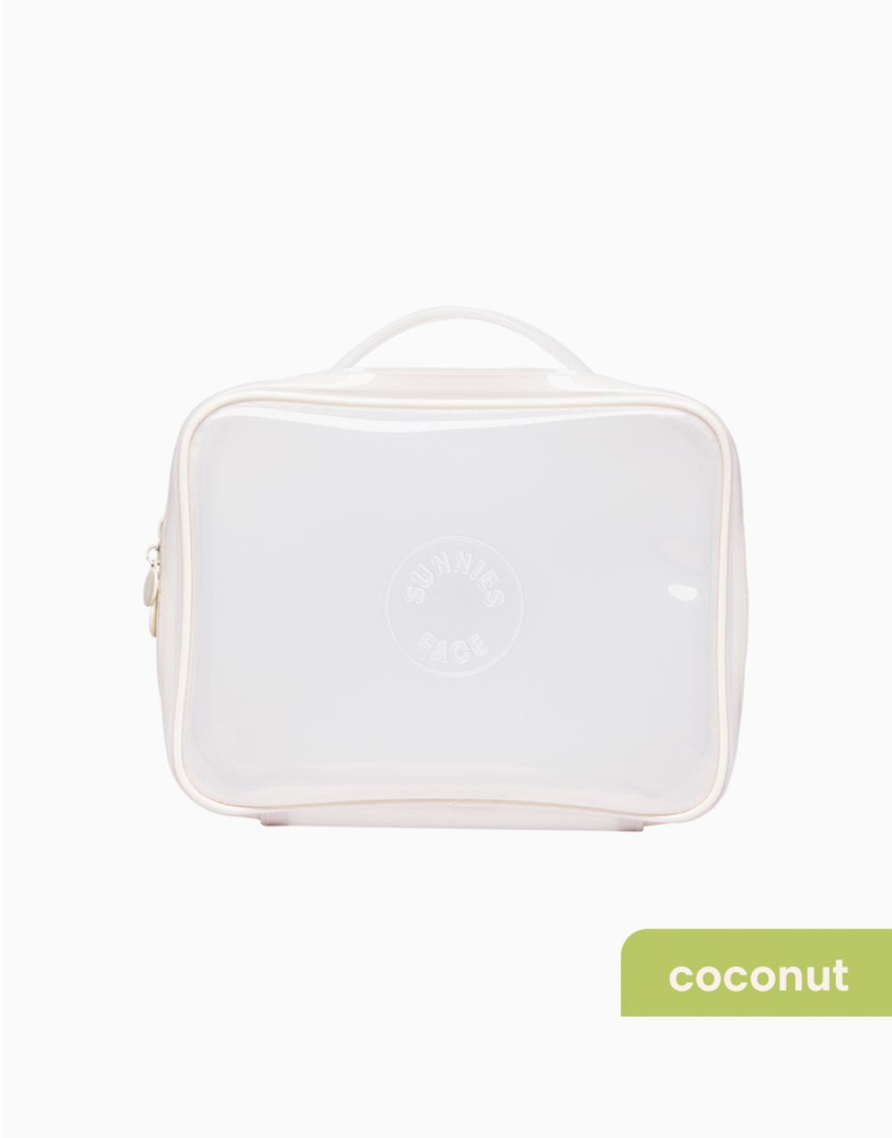 Sunnies Face Weekend Jelly Bag [Makeup Bag] (Coconut) by Sunnies Face