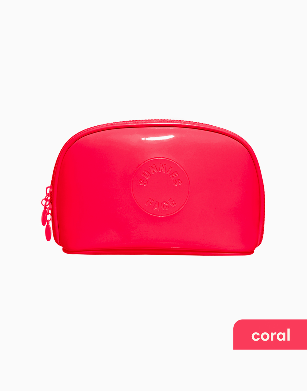Sunnies Face Patent Pouch [Makeup Pouch] (Coral) by Sunnies Face
