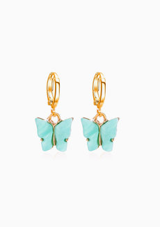 Agatha Butterfly Dangle Earrings by Dusty Cloud