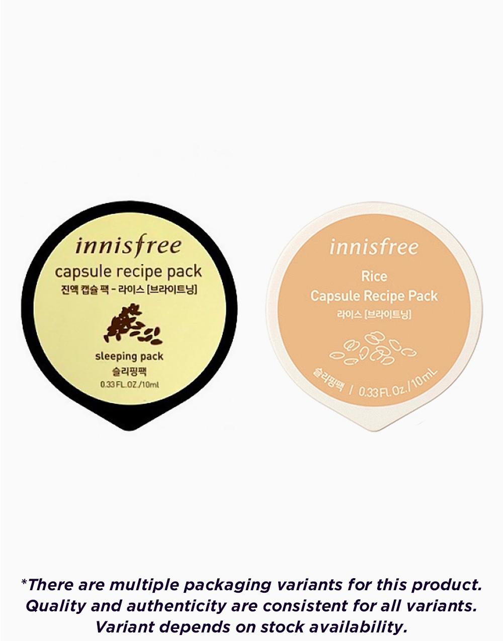 Capsule Recipe Pack–Rice by Innisfree