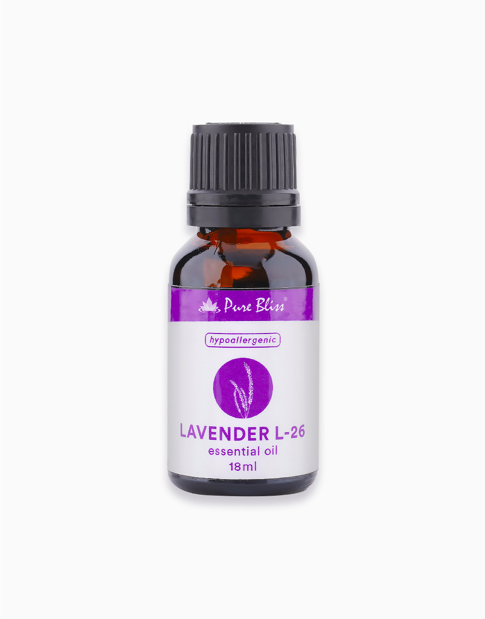 Hypoallergenic Lavender L-26 Essential Oil 18ml by Pure Bliss