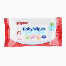 Baby Wipes 30s Water Base by Pigeon