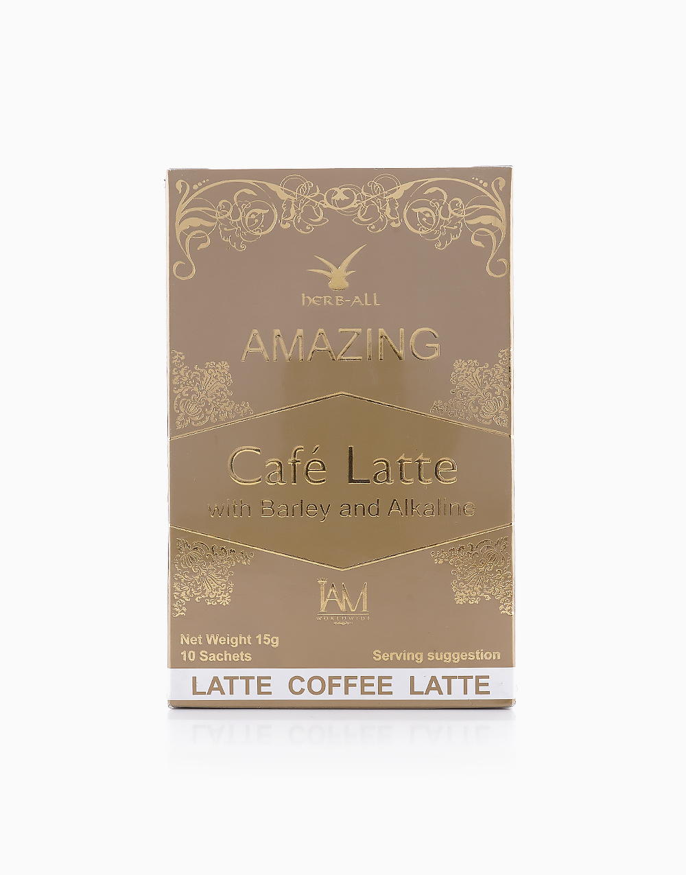 Cafe Latte with Barley and Alkaline (10 Sachets) by iAMWorldwide
