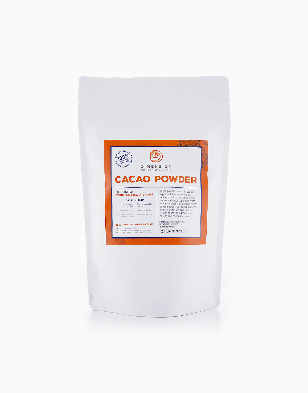 Cacao Powder (250g) by Dimension Artisan Chocolate
