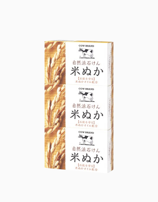 Natural Rice Bran Soap (3's) by COW