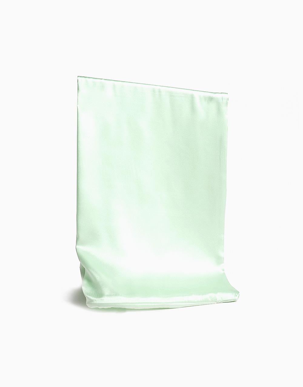 Anti-Wrinkle Silk Pillowcase by The Facialist | Light Green