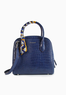 Ally Satchel Blue by Hush Puppies
