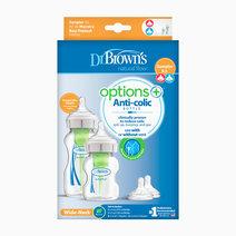 Dr brown f bottle pp wide neck options  sampler kit %281x270ml   1x150ml bot  2xl2 nip 1 brush%29