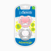 Dr brown pacifier advantage   stage 1  pink stars  2 pack