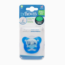 Dr brown pacifier prevent glow in the dark butterfly shield   stage 1 0 6m   blue%28sheep%29