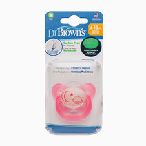 Dr brown pacifier prevent glow in the dark butterfly shield   stage 2 6 12m   pink%28moon   stars%29