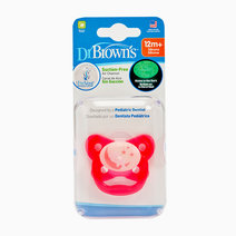 Dr brown pacifier prevent glow in the dark butterfly shield   stage 3 12m    pink%28bear on moon%29