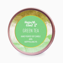 Happy island green tea tin