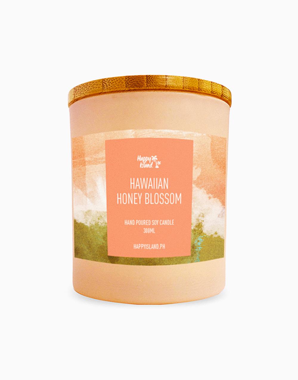 Hawaiian Honey Blossom Soy Candle (10oz/300ml) by Happy Island