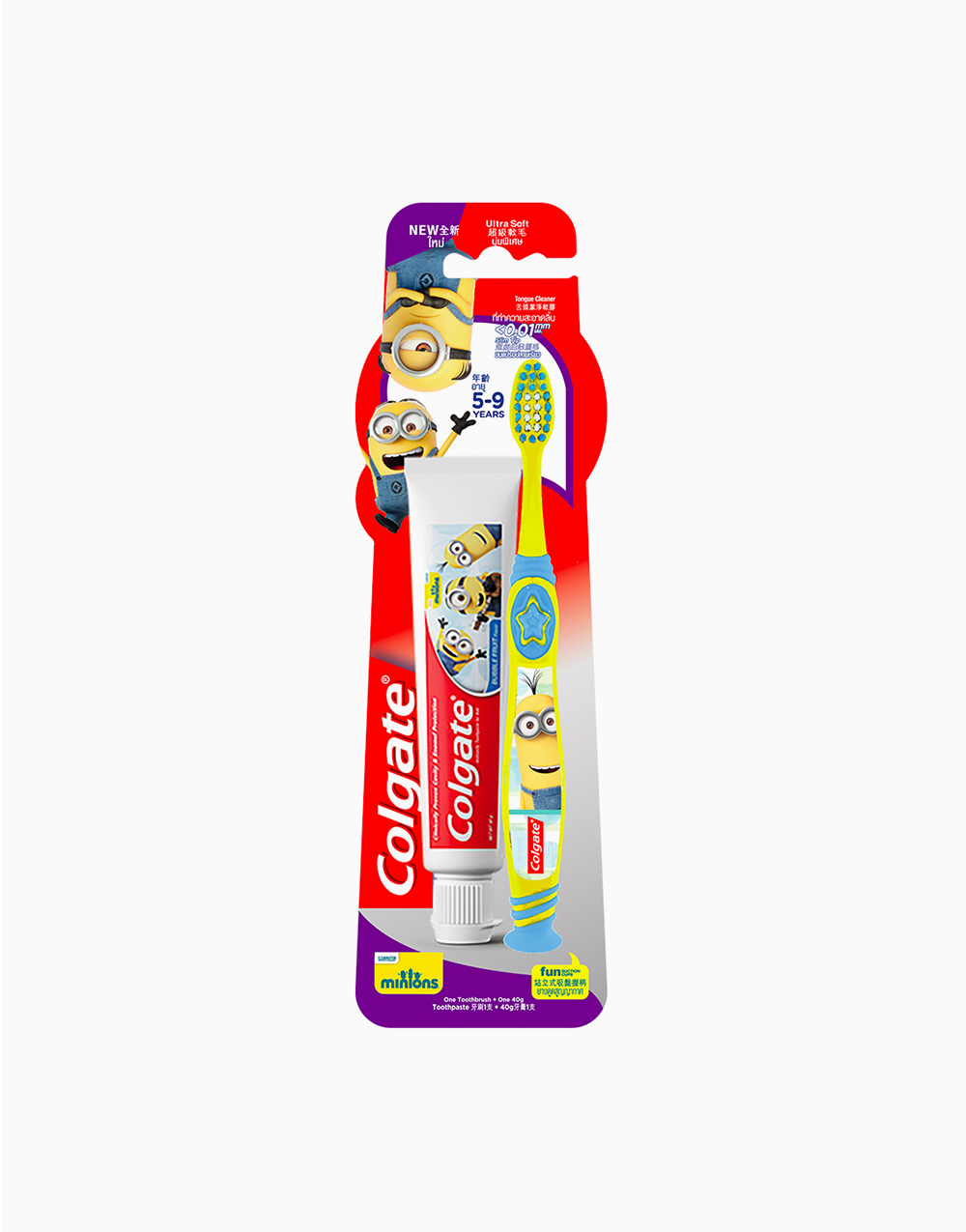 Colgate (CTB) Minions 5-9 + Minions (40g) Toothpaste Value Pack by Colgate