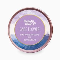 Happy island sage flower tin