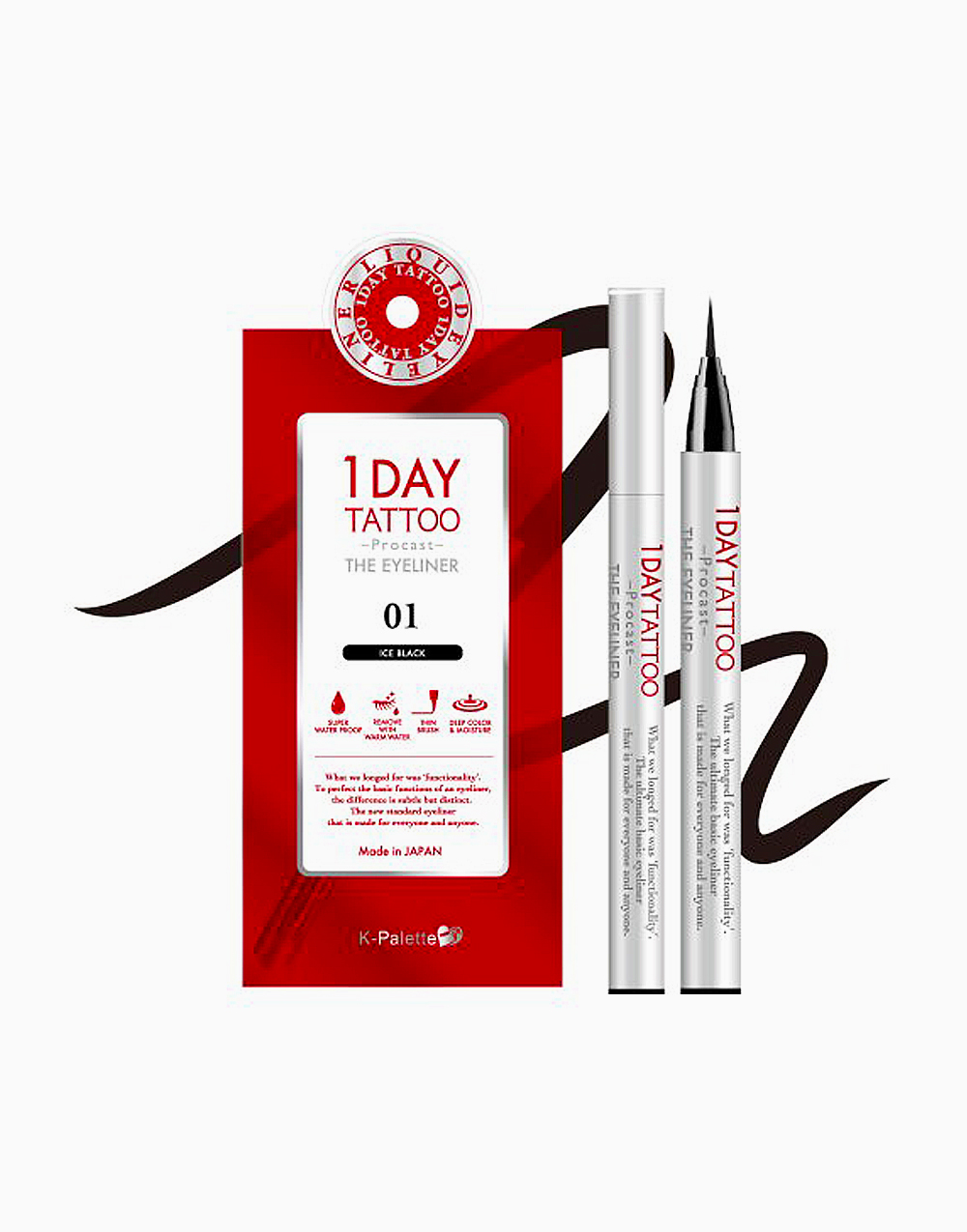 1Day Tattoo Procast the Eyeliner by K-Palette | Ice Black 01