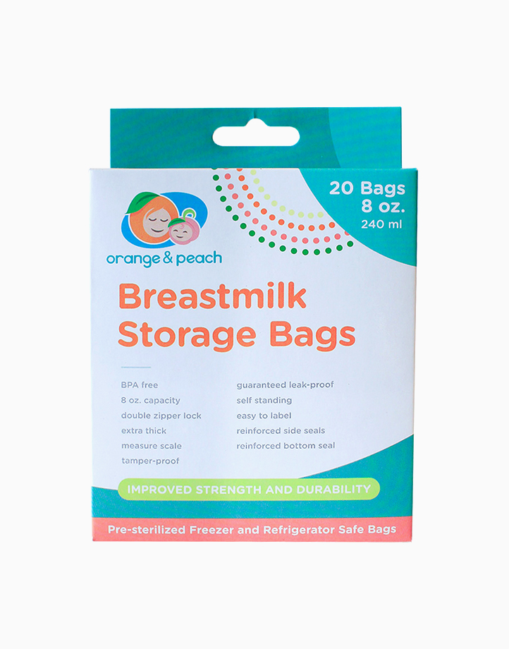Breastmilk Storage Bags (8oz) by Orange and Peach