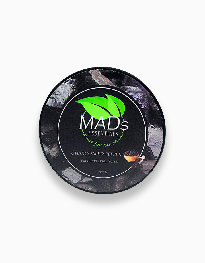 Charcoaled Pepper Face and Body Scrub by MADs Essentials