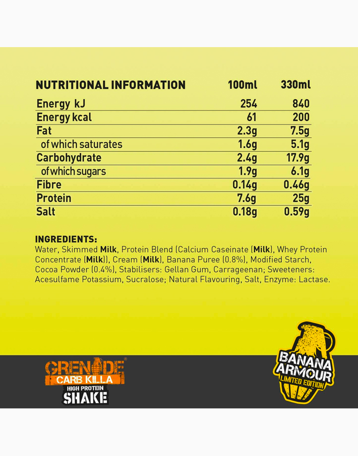 Carb Killa Protein Shake in Banana Armour (330ml) by Grenade