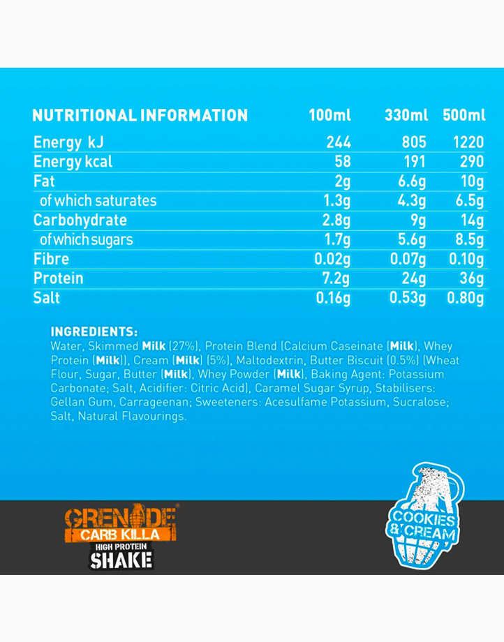 Carb Killa Protein Shake in Cookies and Cream (330ml) by Grenade