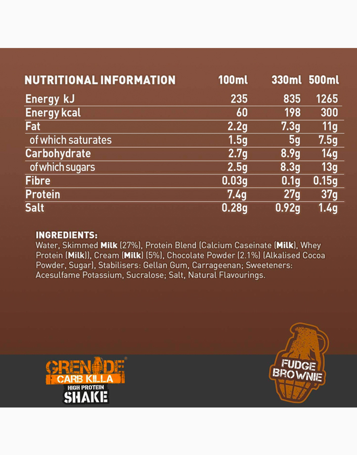 Carb Killa Protein Shake in Fudge Brownie (330ml) by Grenade