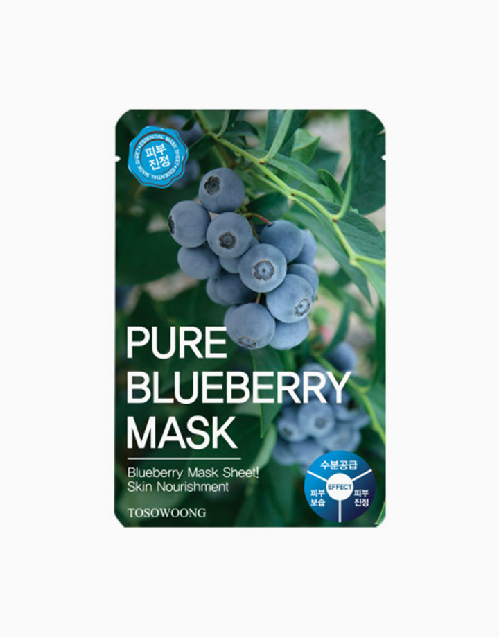 1 pure blueberry mask pack %28dual functional in whitening and anti wrinkle%29