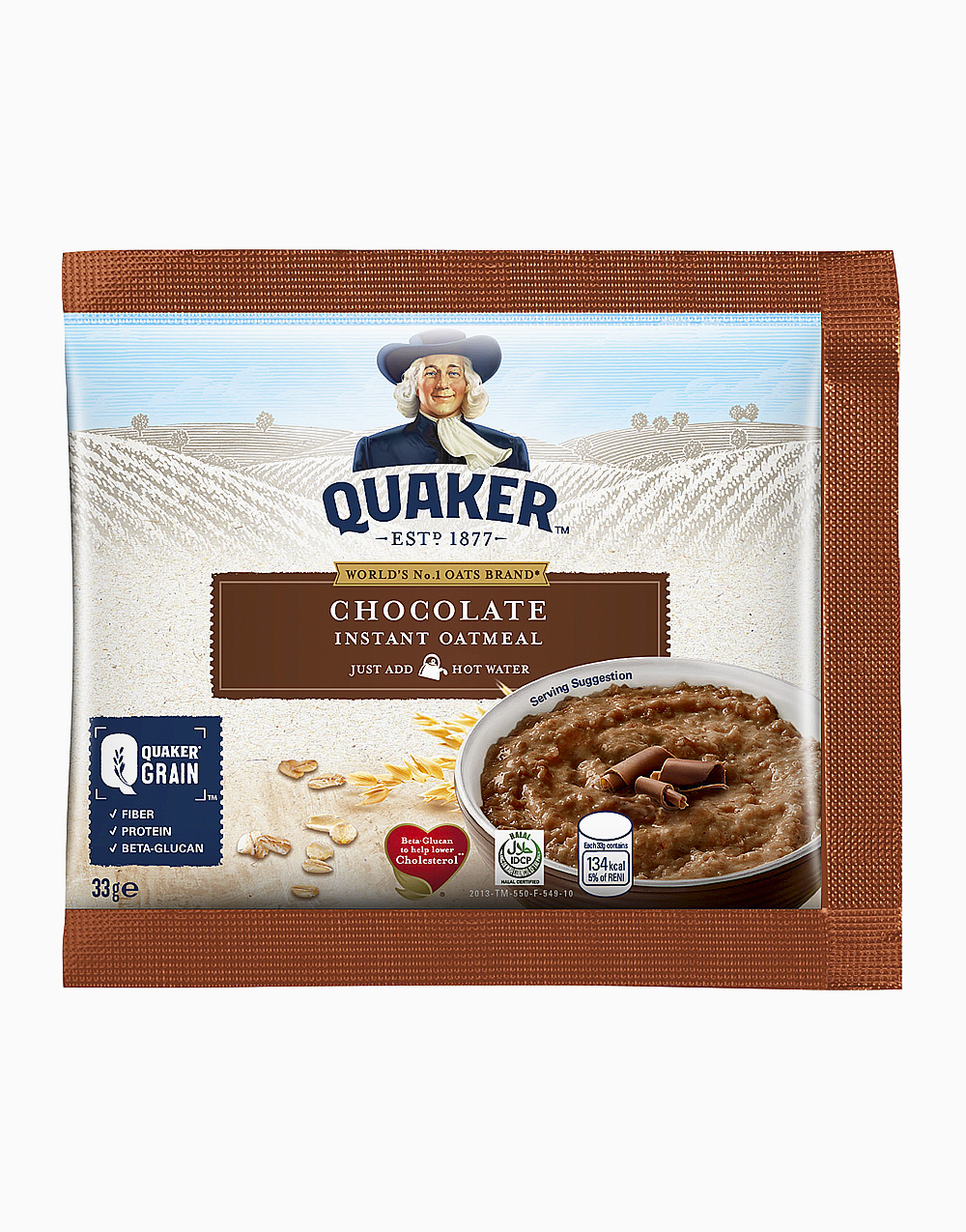 Flavored Oatmeal Chocolate (33g, Pack of 12) by Quaker